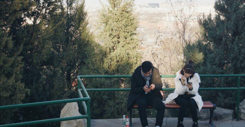 Deux jeunes internautes à Bejing (Chine).