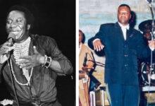 Tabu Ley Rochereau et Papa Wemba, deux légendes de la Rumba congolaise.